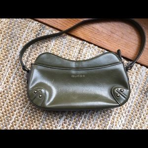 Vintage olive green Guess handbag